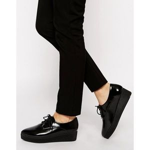 ASOS Shoes - ASOS | Black Mickey Flatform Pointed Shoes